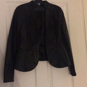LG Charlotte Russe Black Leather Jacket Great Cond